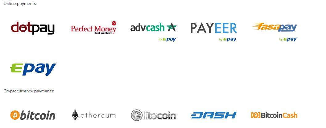 Loại tiền được AdBlast chập nhập thanh toán